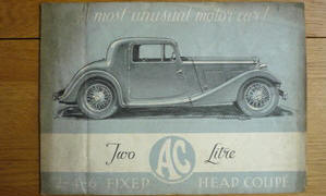 AC Ace Fixed Head Coupe 1937 - 39